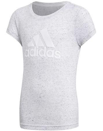 Adidas T shirt YG Id Winner Tee Grå Hvid Pige