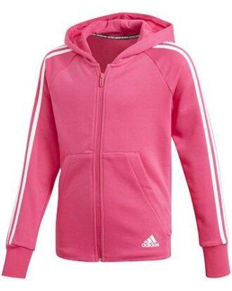 Adidas Hættetrøje YG MH 3S FZ HD Pink-Hvid Børn