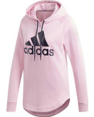 Adidas Hoodie W MH Bos OH HD Pink-Sort Dame