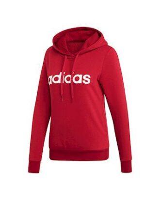 Adidas W E Lin Oh Hoodie Trøje Rød Dame