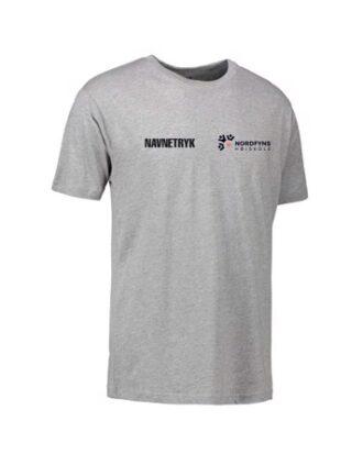 ID 0500 Grå Voksen T-shirt med NFH Tryk og navn