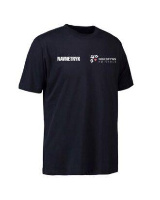 ID 0500 Mørkeblå Voksen T-shirt med NFH Tryk og navn