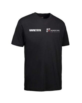 ID 0500 Sort Voksen T-shirt med NFH Tryk og navn