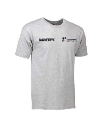 ID 0510 Grå Voksen T-shirt med NFH Tryk