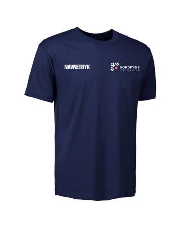 ID 0510 Mørkeblå Voksen T-shirt med NFH Tryk