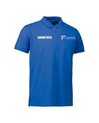 ID 0525 Blå Voksen Polo T-shirt med NFH Tryk og Navn