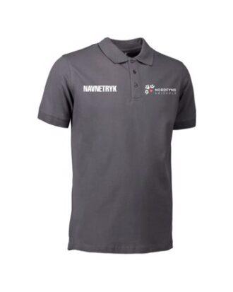 ID 0525 Mørkegrå Voksen Polo T-shirt med NFH Tryk og Navn
