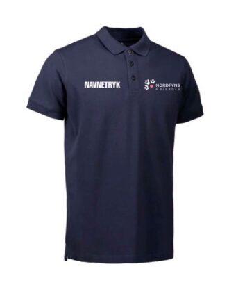 ID 0525 Mørkeblå Voksen Polo T-shirt med NFH Tryk og Navn