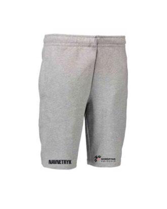 ID 0608 Grå Voksen Jogging shorts med NFH Tryk og navn