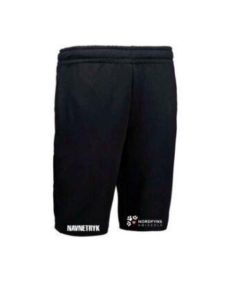 ID 0608 Sort Voksen Jogging Shorts med NFH Tryk og navn