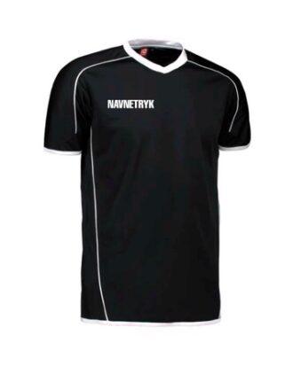 ID 1600 Sort Voksen T-shirt med NFH Tryk og navn