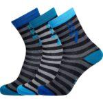 CR7 Boy's 3-Pack Strømper og sokker Sort-Blå Drenge