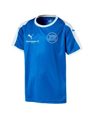 Puma Liga Blå Fodbold Junior t-shirt SBK med Tryk