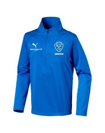 Puma Liga Core Hvid junior Fodbold T shirt BGIF med Tryk