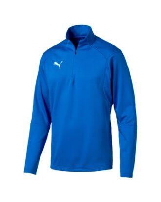 Puma Liga 1/4 Zip Top Fodboldtrøjer Blå Herre