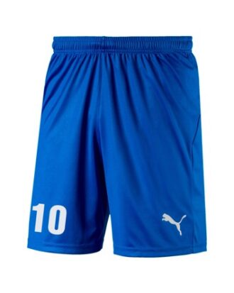 Puma Liga Core senior  fodboldshorts blå med nummertryk