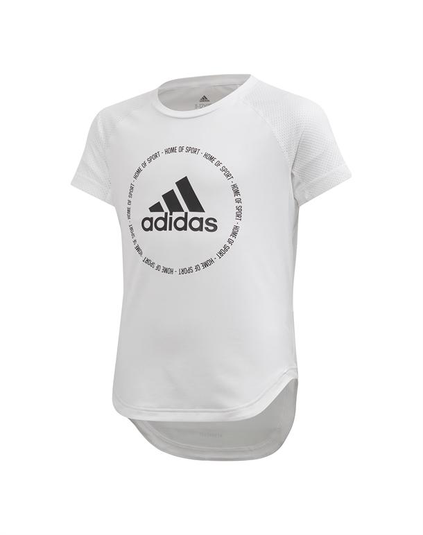 Adidas JG TR BOLD TEE T-shirt Hvid-Sort Børn