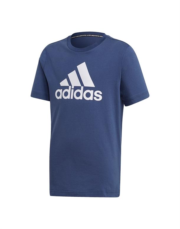 Adidas YB MH BOS T T-shirt Blå/Hvid Børn