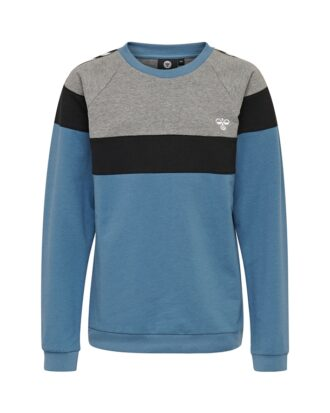 Hummel Hmlbrooklyn Sweatshirt Grå/Blå Børn