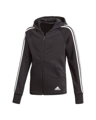 Adidas YG MH 3S FZ  Sweatshirt  Sort-Hvid Børn