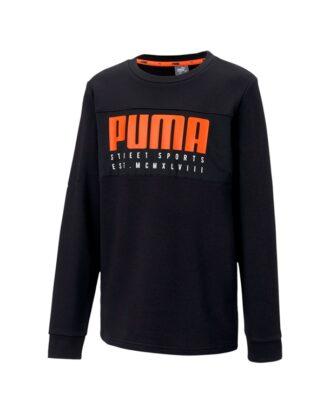Puma Alpha Crew Trøje Sort Børn