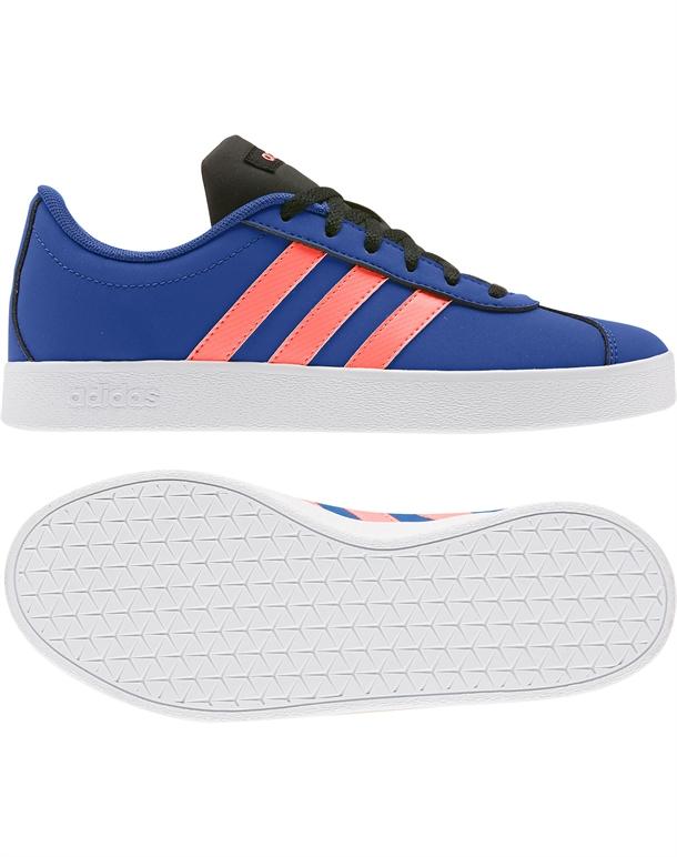 Adidas VL Court 2.0 K Børnesko Blå-Orange Børn 1