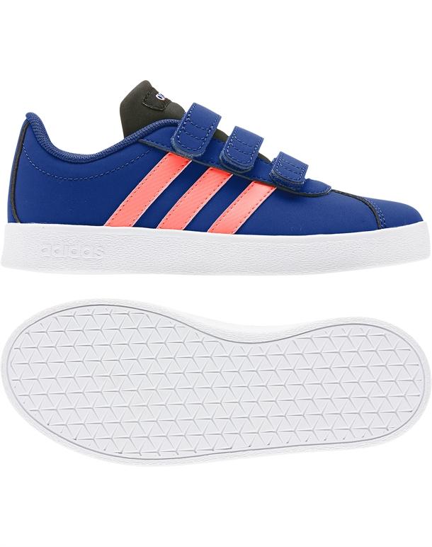 Adidas VL Court 2.0 CMF C Børnesko Blå Børn 1