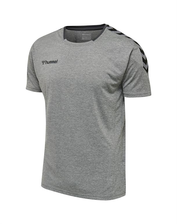 Hummel Authentic Poly T shirts Grå Herre