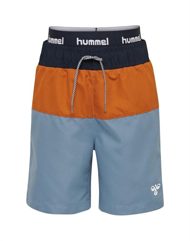 Hummel Garner Badebukser Navy-Orange-Blå Børn 1