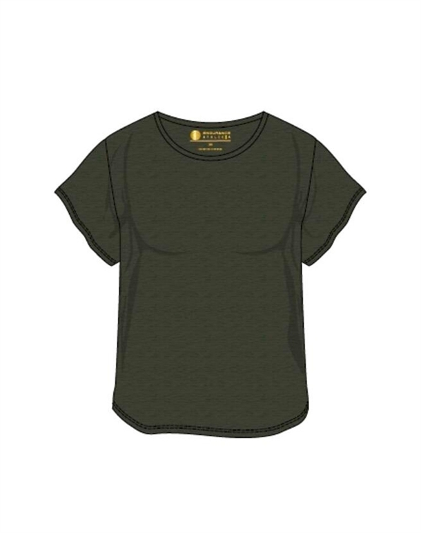 Endurance Lizzy W Slub Tee Fitness t-shirt Mørkegrøn Dame 1