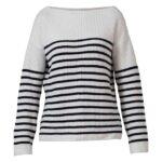 Blue Sportswear Westerly Cotton Knit Trøje Hvid-Navy Dame