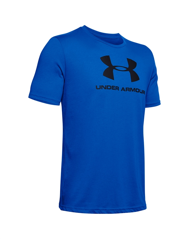 Under Armour Sportstyle Logo SS T-shirts Blå Herre 1