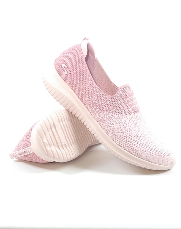 Skechers Ultra Flex - Cozy Day Fritidssko Pink Dame 1