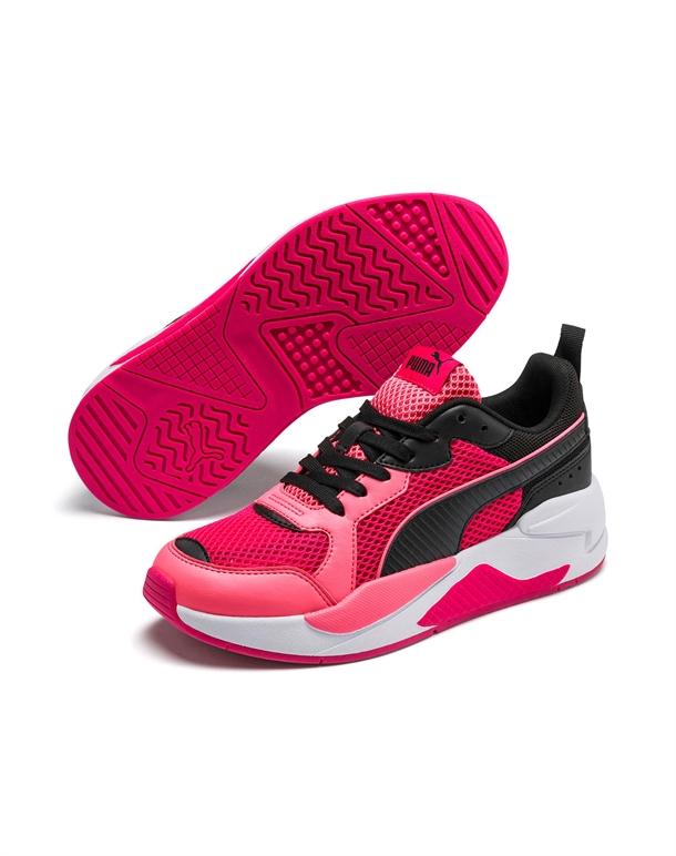 Puma X-Ray Glitch SKO Pink-Sort Dame 1
