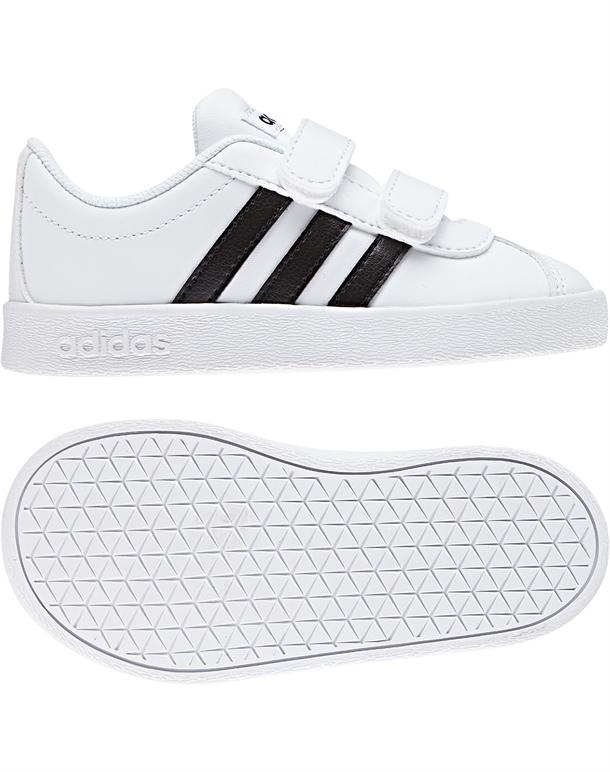 Adidas VL Court 2.0 CMF I Sko Hvid-Sort Børn 1