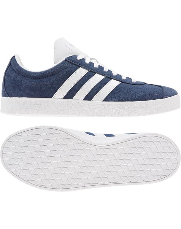 Adidas VL Court 2.0 Sneakers Navy-Hvid Dame 1