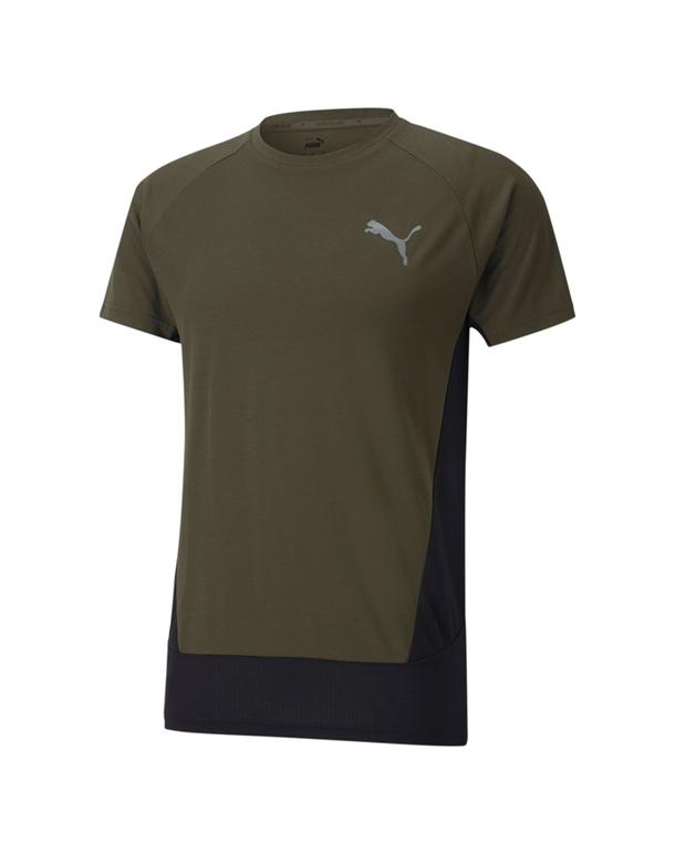 Puma Evostripe T-shirts Army Grøn Herre 1