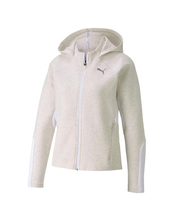 Puma Evostripe Ful-Zip Trøje Hvid Dame 1