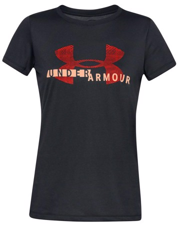 Under Armour T-shirt Tech Tech Graphic Sort Dame 1