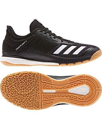 Adidas Crazyflight X 3 Indendørssko Sort Unisex 1