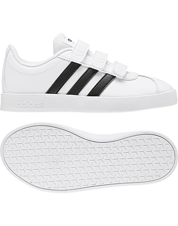 Adidas VL Court 2.0 CMF C Børnesko Hvid-Sort Børn 1