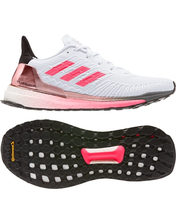 Adidas Solar Boost ST 19 Løbesko Hvid-Pink Dame 1