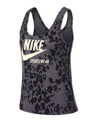 Nike Sportswear Gym Vintage Toppe Grå-Sort Dame