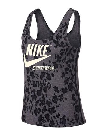 Nike Sportswear Gym Vintage Toppe Grå-Sort Dame 1