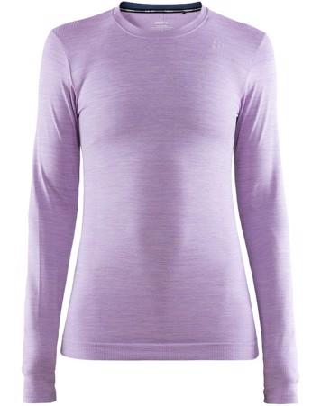 Craft Langærmet T-shirt Fuseknit Comfort RN LS W Lys Lilla Dame 1