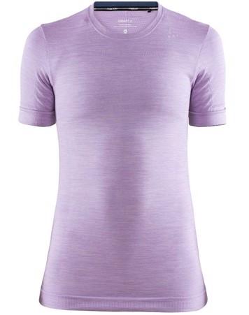Craft T-shirt Fuseknit Comfort RN SS W Lys Lilla Dame 1