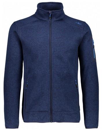 CMP Knit Fleece Jacket Fleecetrøjer Blå Herre 1
