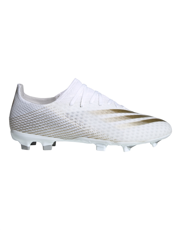 Adidas X Ghosted 3 FG Fodboldstøvler Hvid-Guld Unisex 1