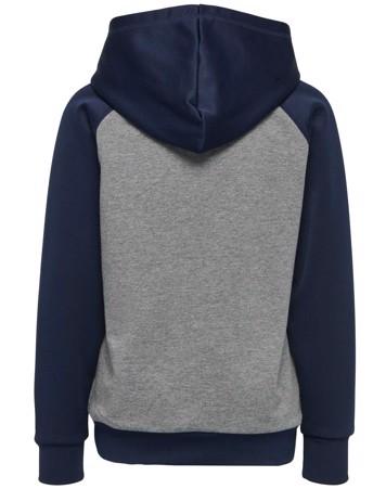 Hummel Sweatshirt HMLLiam Hoodie Navy-Grå Dreng 1