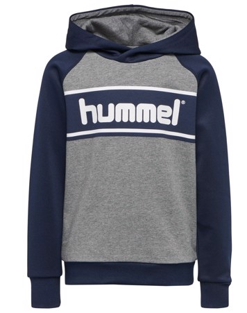 Hummel Sweatshirt HMLLiam Hoodie Navy-Grå Dreng
